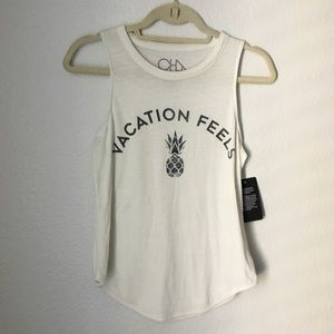 NWT Chaser Vacation Feels Pineapple Tank - S